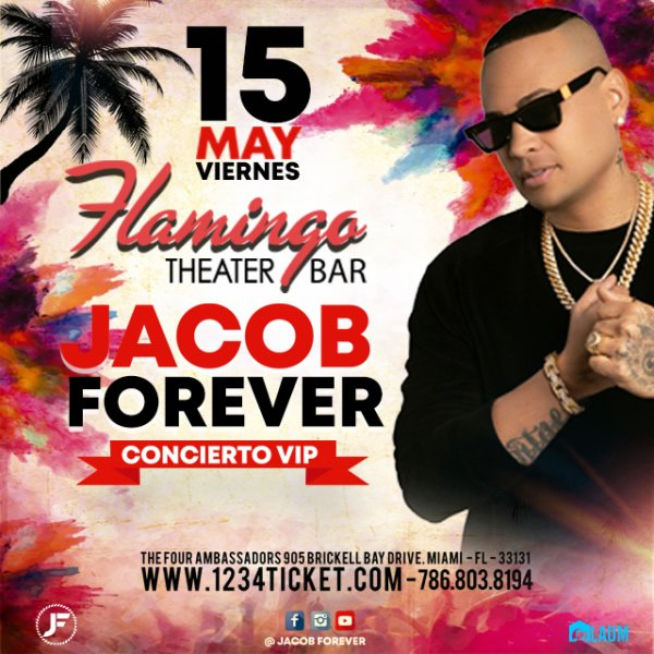 "Cover evento ""Jacob Forever en el Flamingo"""