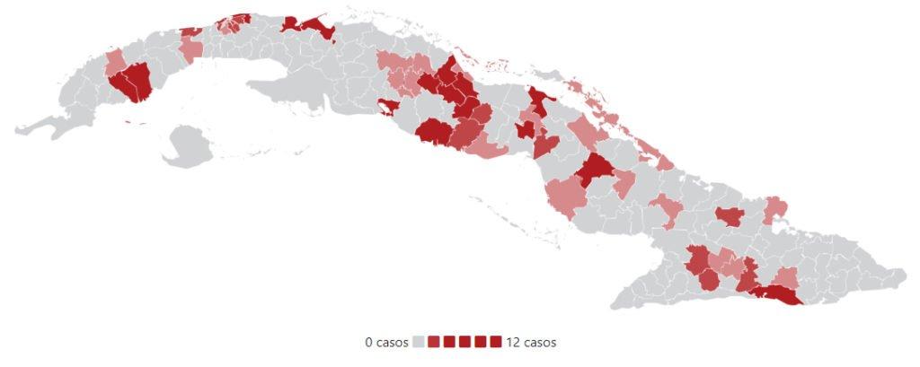 Mapa Contagios en Cuba 200330