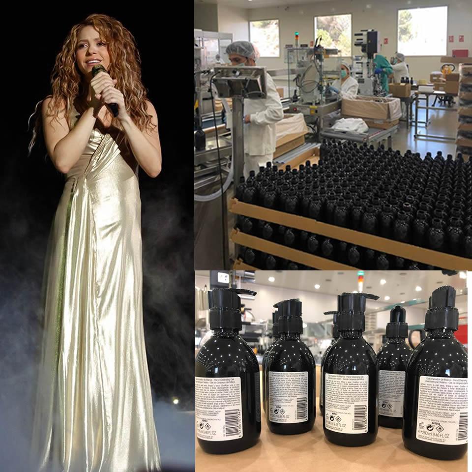 "Portada noticia de ""Shakira produce gel de manos"""